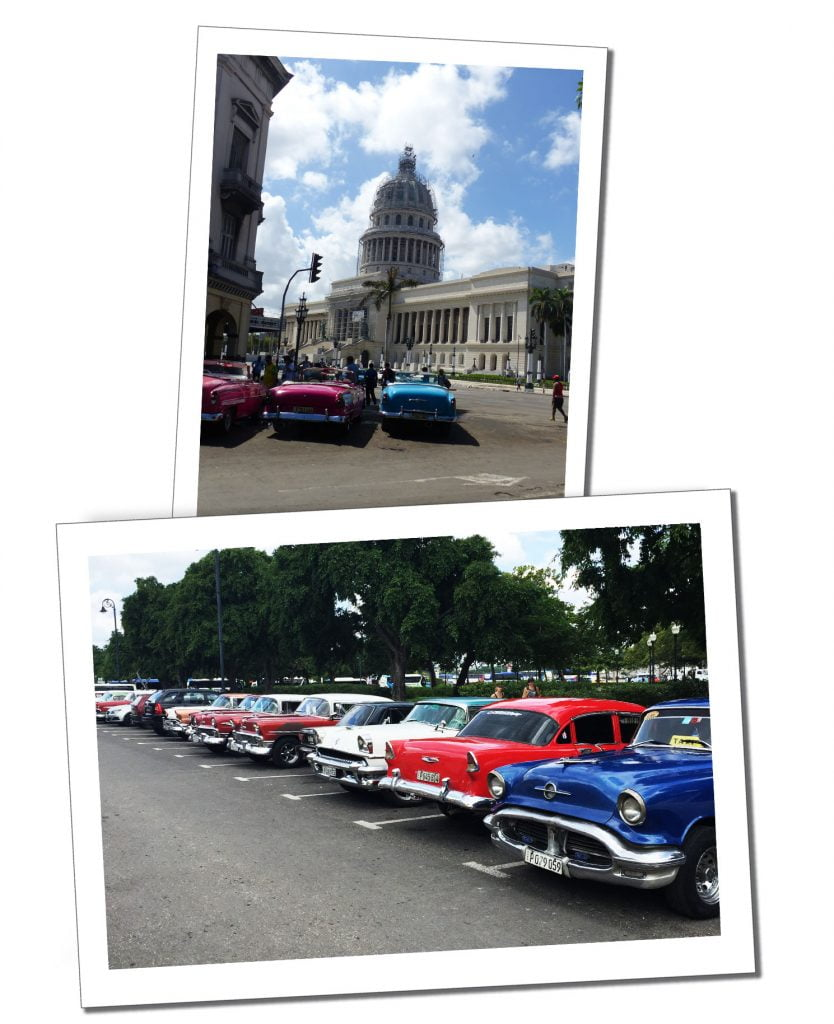 Classic cars in Central Havana, Cuba