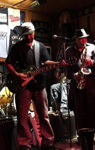 Blues musicians on stage, Chicago blues club