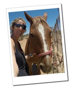 SueWhereWhyWhat and 'Big Red' - Horse Riding in Namibia