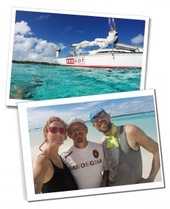 SueWhereWhyWhat & her friends, with the Yacht Red Hot, BVI, Caribean