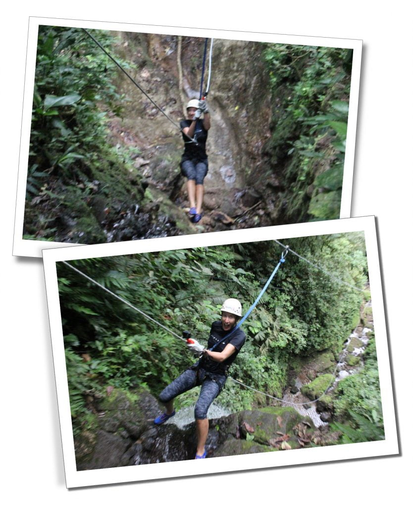 SueWhereWhyWhat abseiling, with G Adventures, Costa Rica