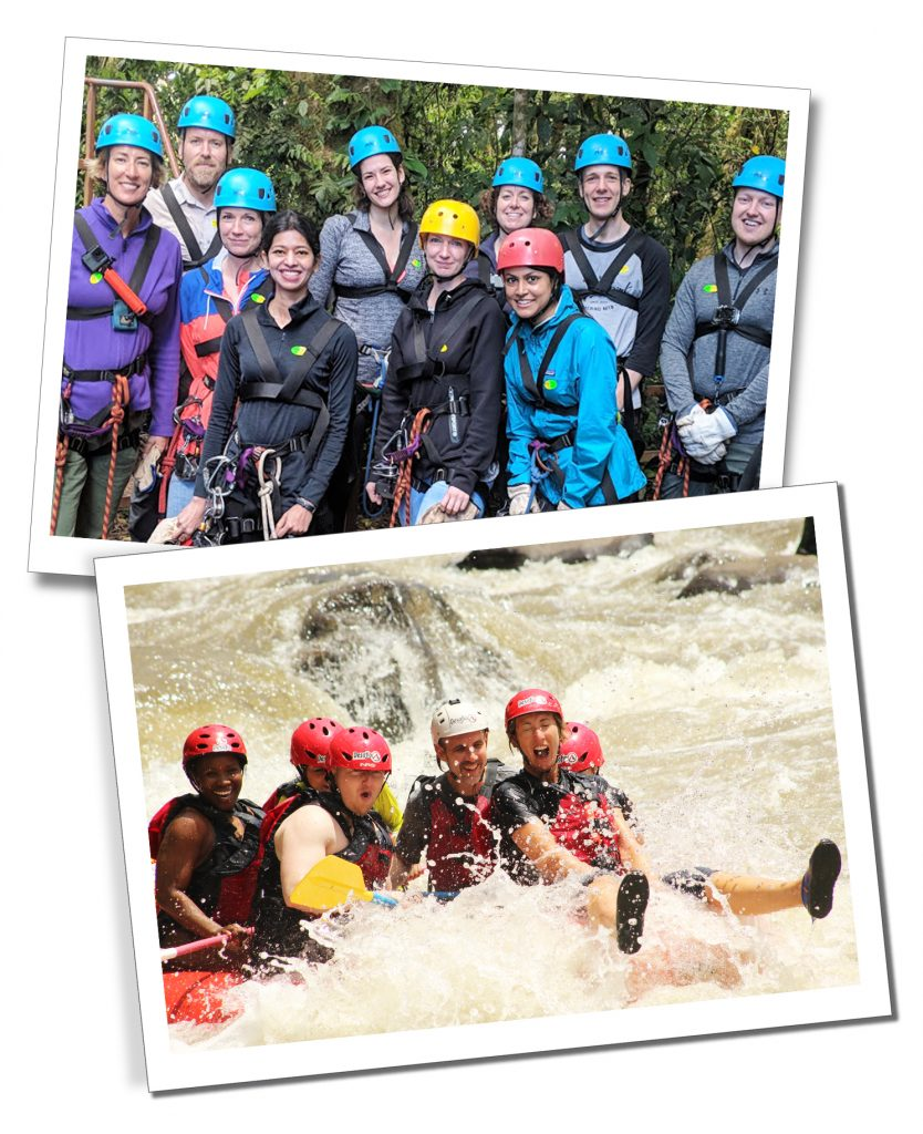 SueWhereWhyWhat & fellow travellers, White water rafting & abseiling in Costa Rica with G Adventures