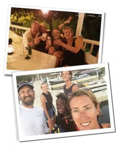 SWWW and friends at Pineapple House, Antigua