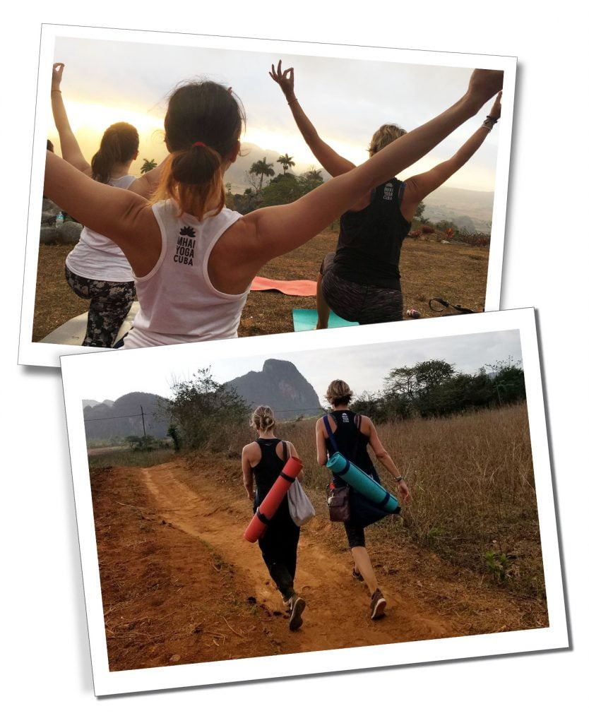 Sunrise Yoga and the hike to viewpoint in Los Acuáticos, Viñales, Cuba