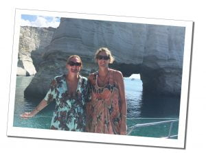 SueWherewhywhat and friend on the Milos Boat Trip