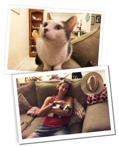 SueWhereWhyWhat & Ivy the Cat while housesitting in Grand Cayman, Caribbean