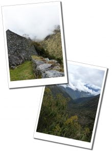Beautiful, desolate and tranquil, views in the clouds Inca Trail, views, Peru.