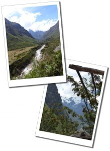 Beautiful views of the valley floor, river & through the trees during the ascent on day 1