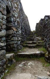 Stone walls and steps, Inca Trail