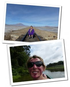 SueWhereWhyWhat in Bolivia and The Amazon Rainforest during a trip to South America