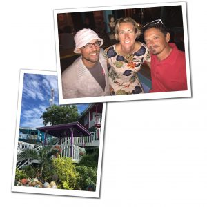 Suewherewhywhat pictured with friends at Staniel Cay, Best of the Bahamas