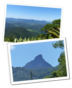 Views when hiking from the summit and foot of Mount Warning, Wollumbin National Park, Australia