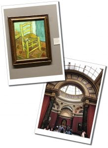A Van Gogh painting & view inside the National Gallery, London