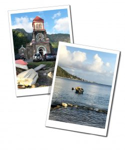 Tranquil views of Soufriere, by the sea, Dominica, Caribbean