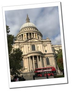 St.Pauls Cathedral, London and Red London Bus