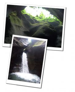 Waterfall Inside Titou Gorge, Dominica, Caribbean