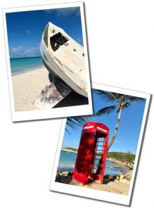 Beach boat and phone box, Dickenson Bay, Antigua, 20 Best Things To Do In Antigua - A Local Perspective