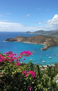 A view of the bay from Shirley Heights, Antigua