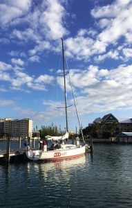 Red Hot yacht sitting in dock at Grand Bahama