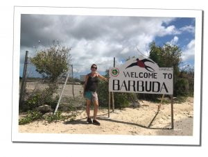 SWWW and the welcome to Barbuda Sign