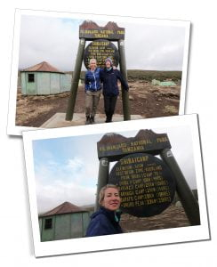 SWWW and Brigitte at the Shira Camp, end of Day 2, Mount Kilimanjaro