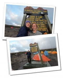 SWWW and Brigitte at Shira Camp 2, at the end of day 3, Mount Kilimanjaro