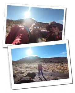 SWWW, Brigit and Guide on the plains towards Lava Tower - What To Expect When Climbing Mount Kilimanjaro