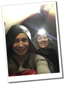 Brigit and SWWW in tent with head torch, Kilimanjaro - What To Expect When Climbing Mount Kilimanjaro