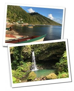 The Shore at Soufriere and Emerald Pool, Dominica