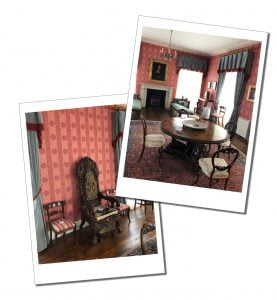 Rooms inside the house at Derrynane, Ring of Kerry, Ireland