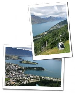 The Skyline Gondola and views from it over Queenstown, New Zealand