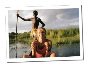 SWWW at 22 in a canoe in Africa - Travel For Singles Over 40
