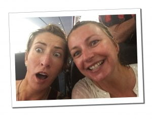 SWWW and Sister Al, soaked on the plane, Melbourne