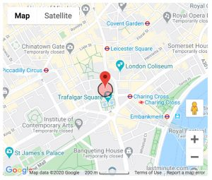Google Map Showing The National Gallery, London