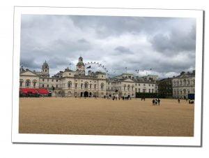 A view across horse guards parade, London