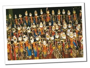 An array of brightly painted puppets, Pangandaran, Indonesia - Crazy Travel Stories