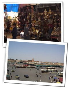 Short Travel Stories from the air - Souk in Marrakech, Morocco