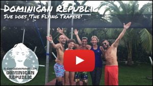 Sue does 'The Flying Trapese' - Cabarete, Dominican Republic