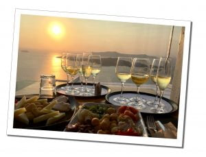 Santorini sunset drinks - Top Tips to Travel Safely during COVID 19