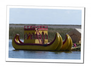Shoe shaped boats. An Amazing 2 Day Homestay in Lake Titicaca Uros Reed Island People Taquiles Island